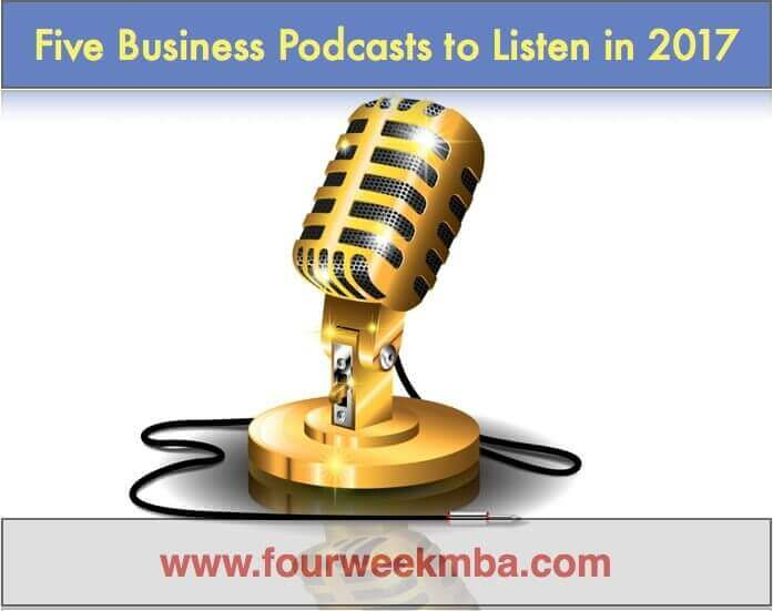 Business Mastery | Five Must-Listen Business Podcasts in 2017