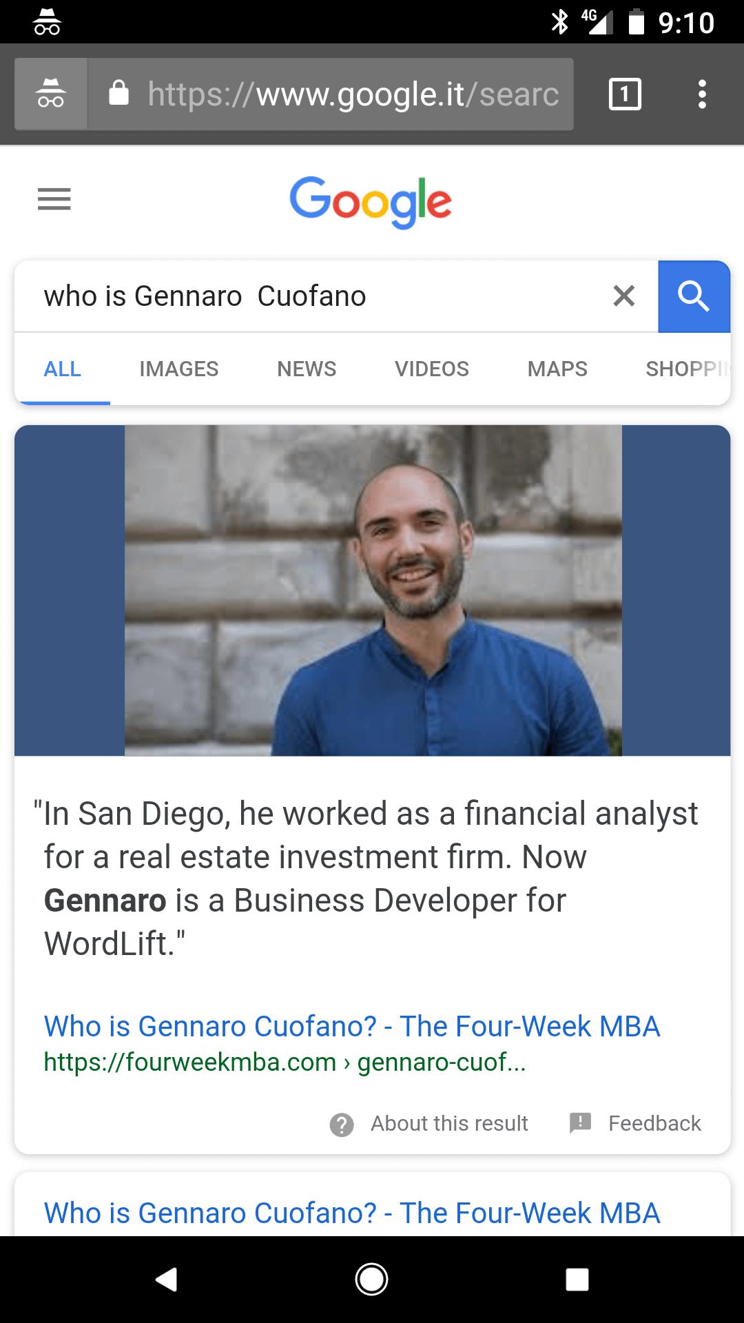 gennaro-cuofano-featured-snippet
